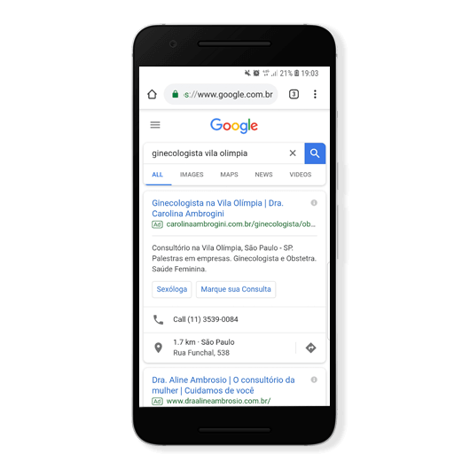 google ads para médicos